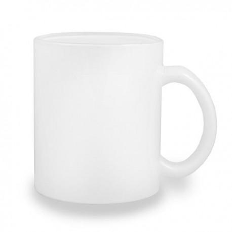 Kubek szklany biały